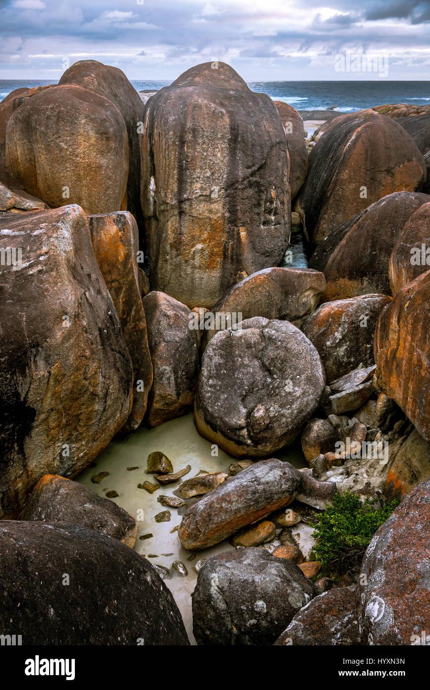 Elephant Rocks at William Bay National Park, Western Australia - Stock Image