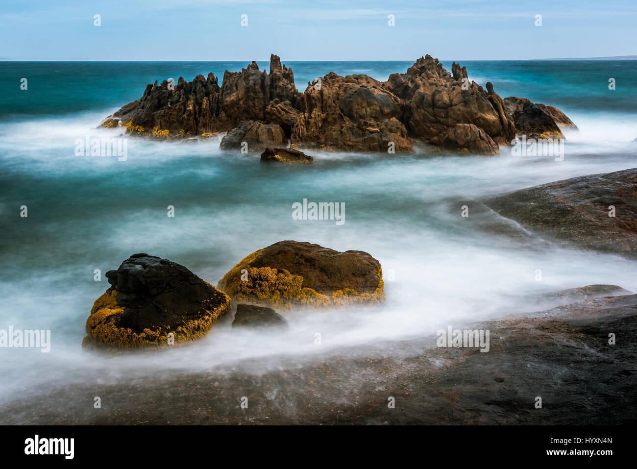 Rocks at Quagi Beach in Western Australia - Stock Image