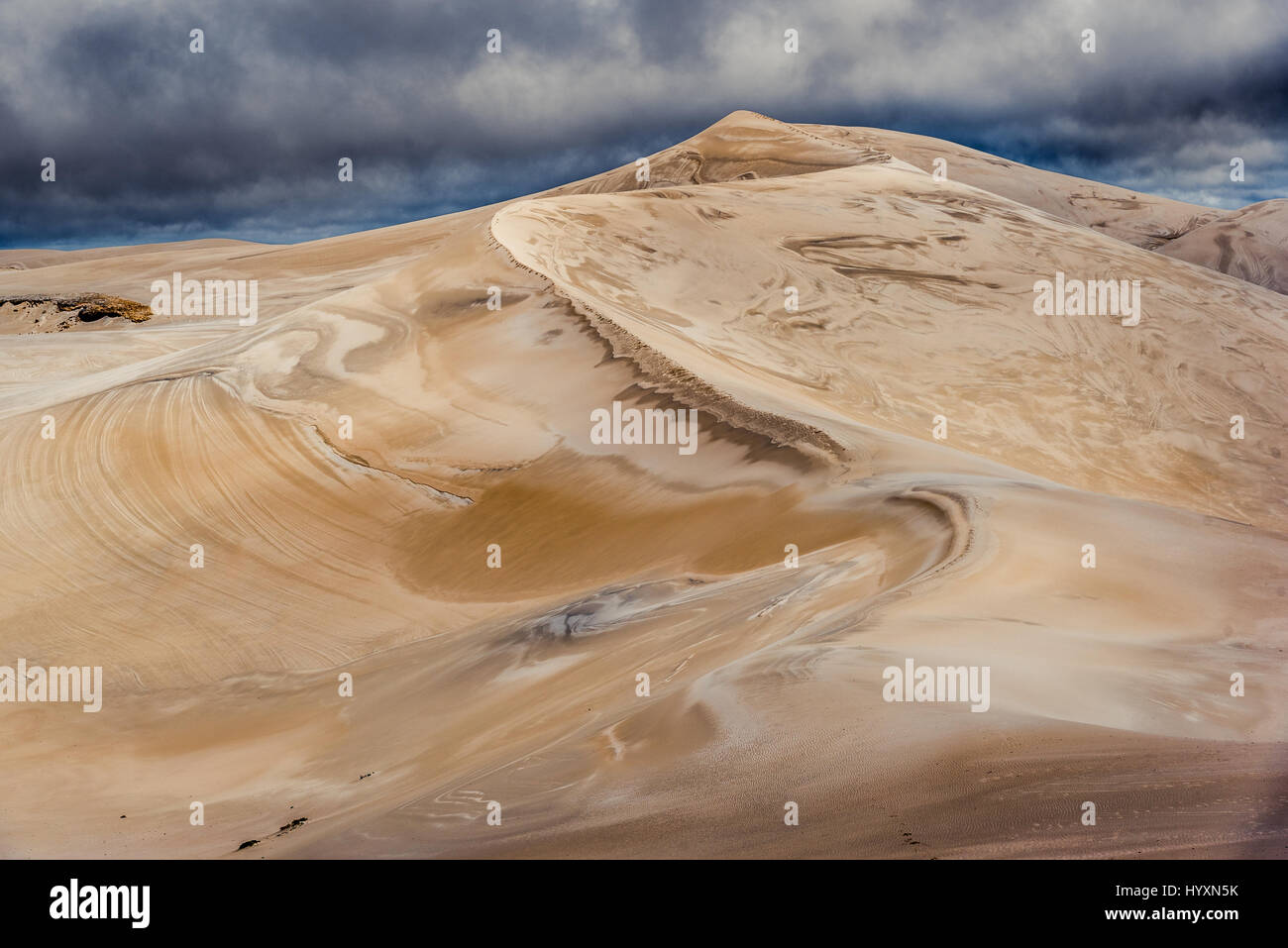 Reef Beach Dunes are 220 m high above the ocean near Bremer Bay in Western Australia - Stock Image