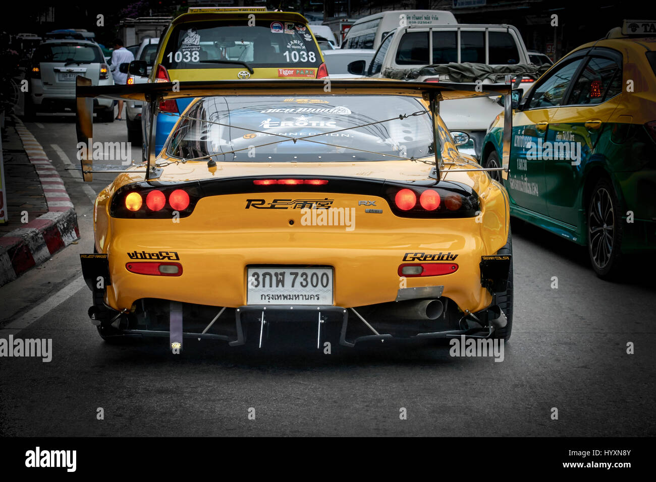 Mazda RX7 Customised Sports Car.   Stock Image