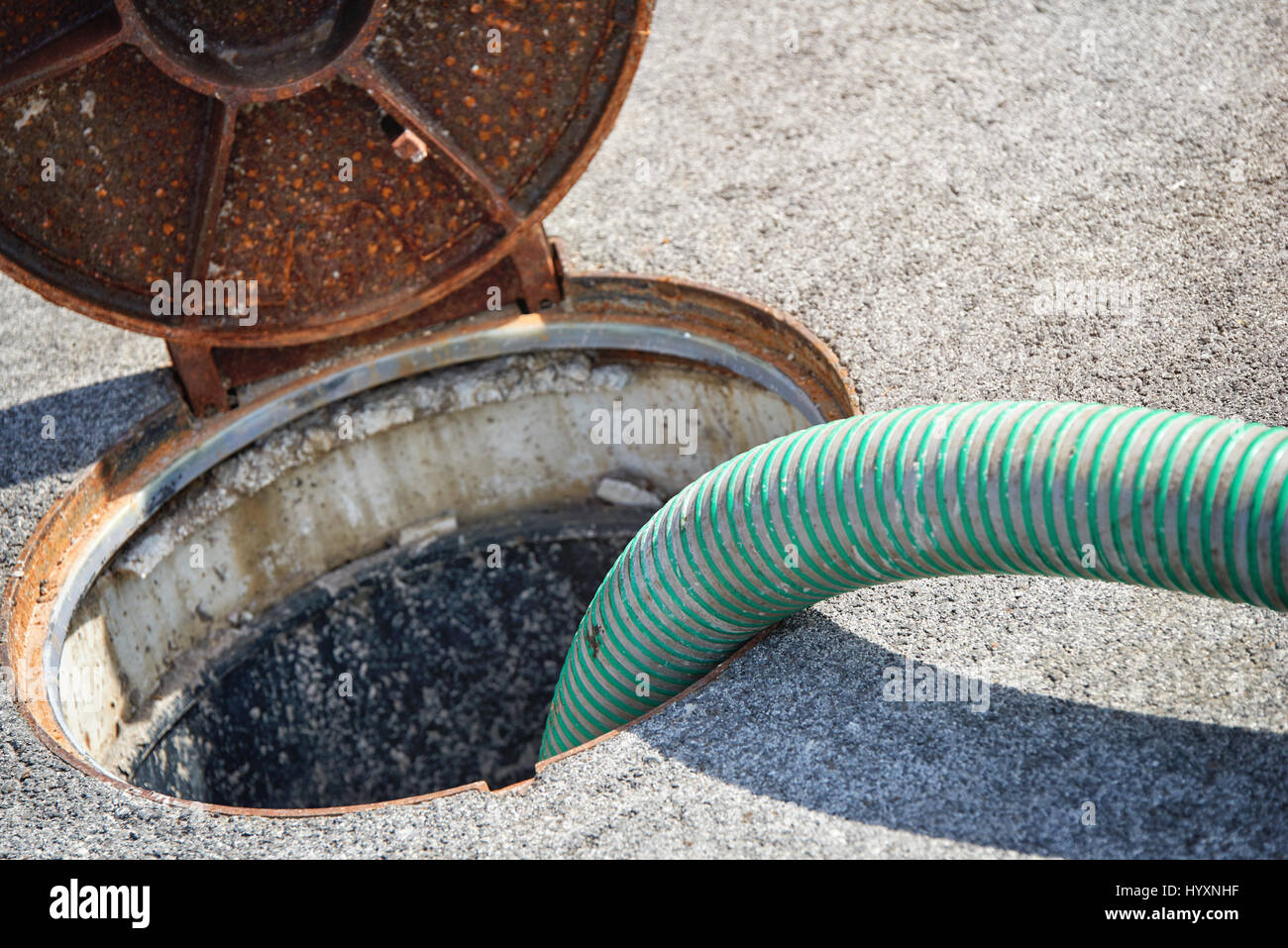 Emptying septic tank, cleaning the sewers Septic cleaning