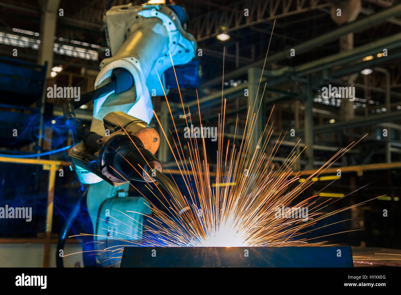 Test run robot welding - Stock Image