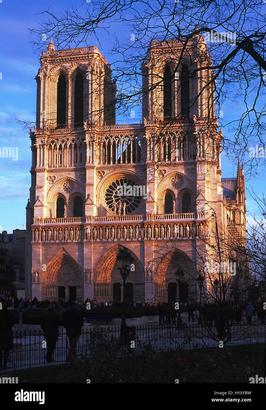 Notre-Dame de Paris ( 'Our Lady of Paris') view at sunset, Paris, France - Stock Image