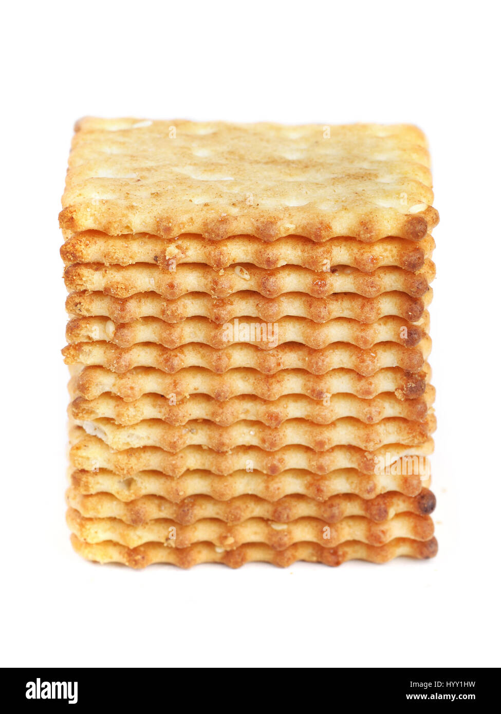 Square cookies isolated on white background - Stock Image