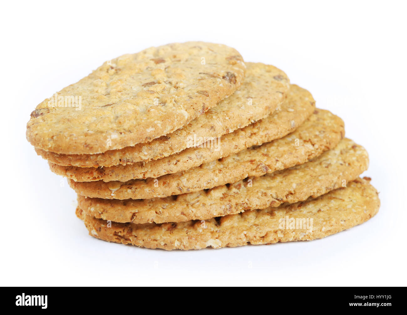 Oval-shaped cookies isolated - Stock Image
