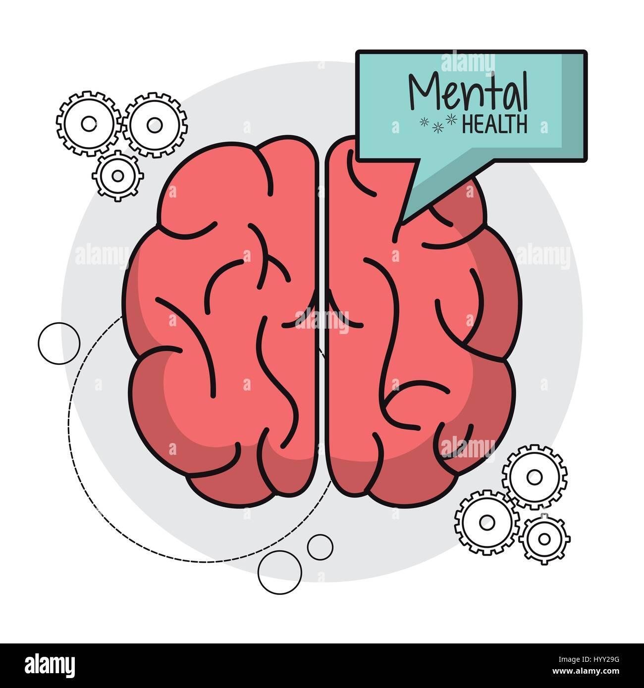 brain human mental health functions - Stock Image