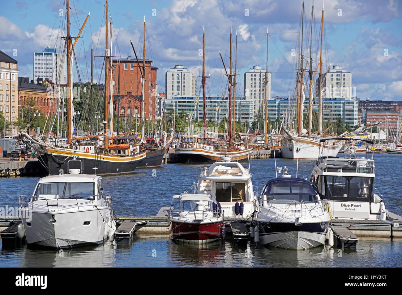 Helsinki Marina - Stock Image