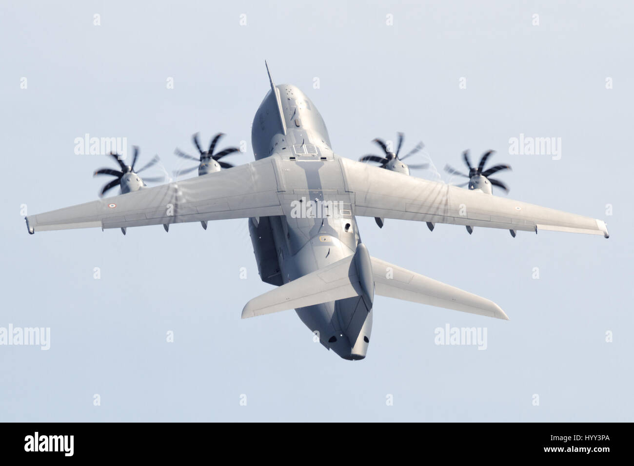 Airbus A400M performing at Melbourne Airshow 2017 - Stock Image
