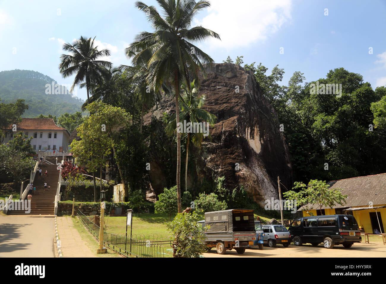 Aluviharaya Rock Cave Temple Sri Lanka Matale District Kandy