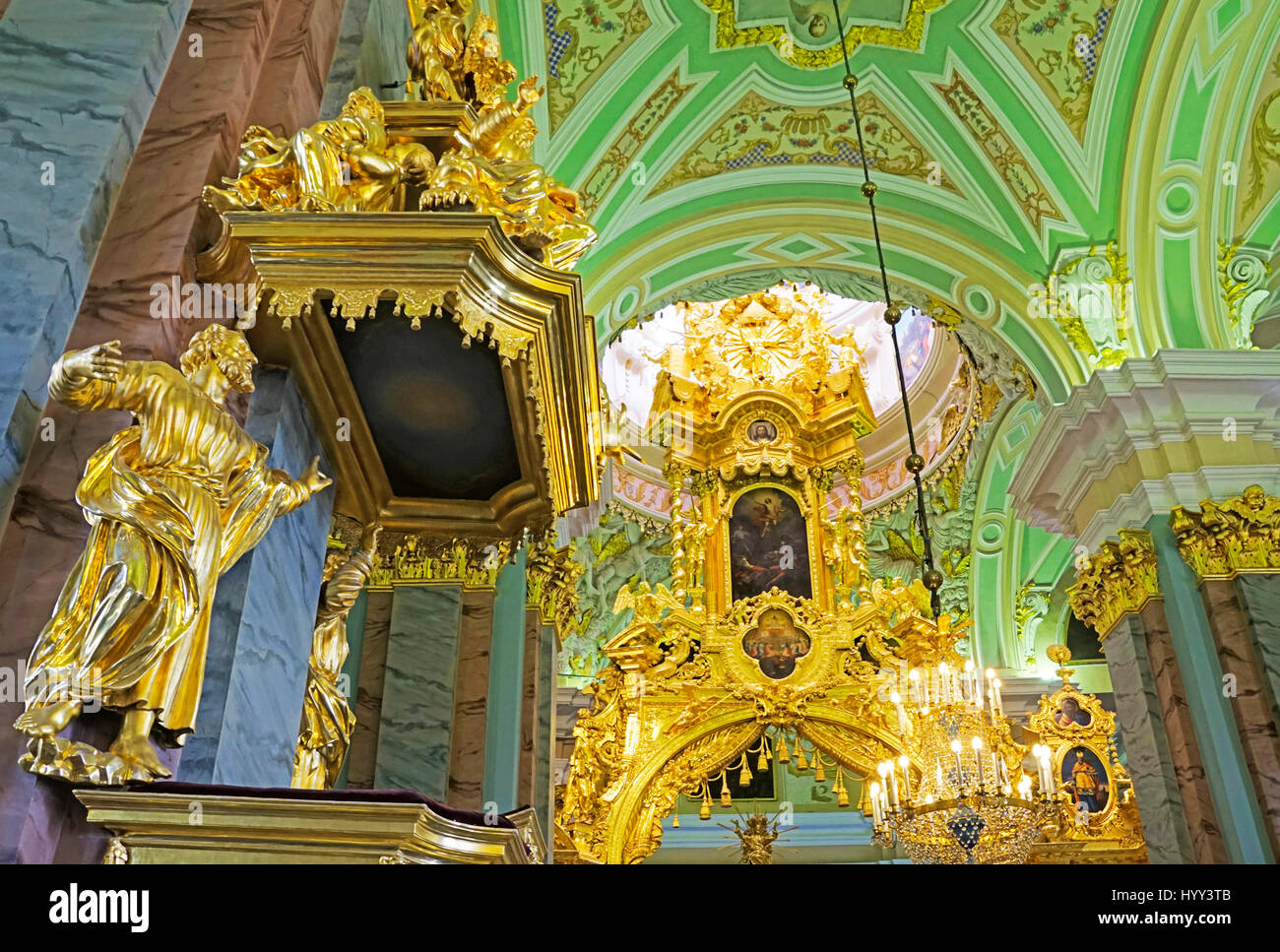 Peter and Paul Fortress church interior in St. Petersburg, Russia. - Stock Image