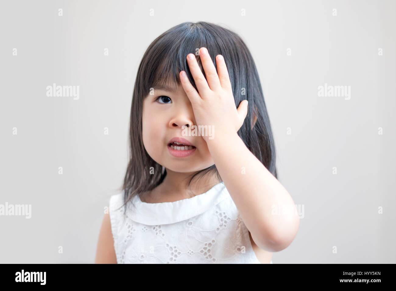 asian girl one eye