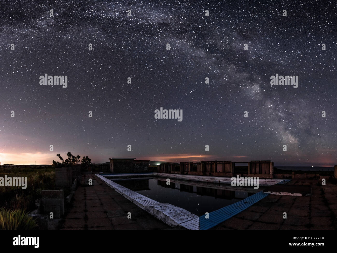 Isle Of Wight Uk The Camp 39 S Swimming Pool At Night Chilling Images Stock Photo 137666816 Alamy