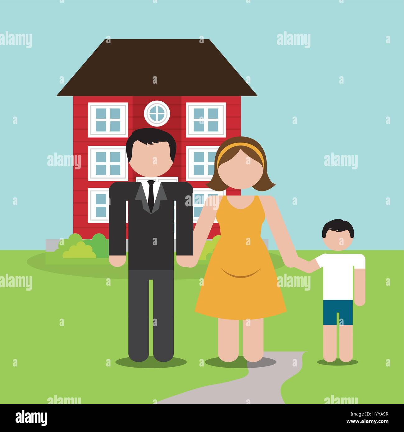 family home domestic image - Stock Vector