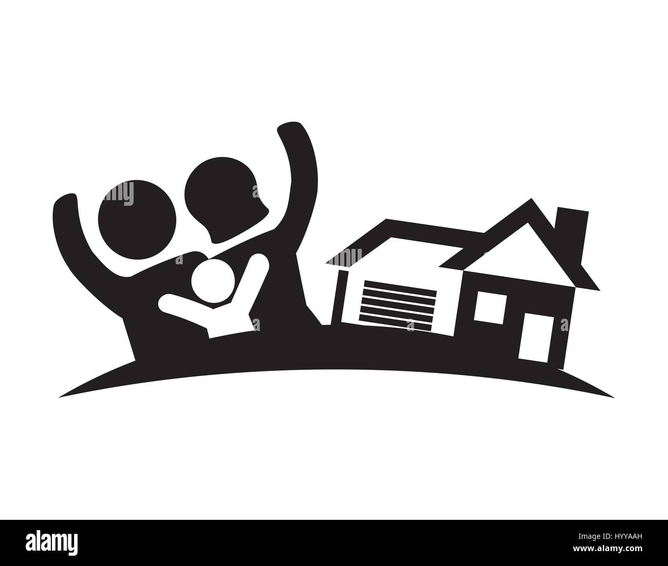 family home real estate image - Stock Vector