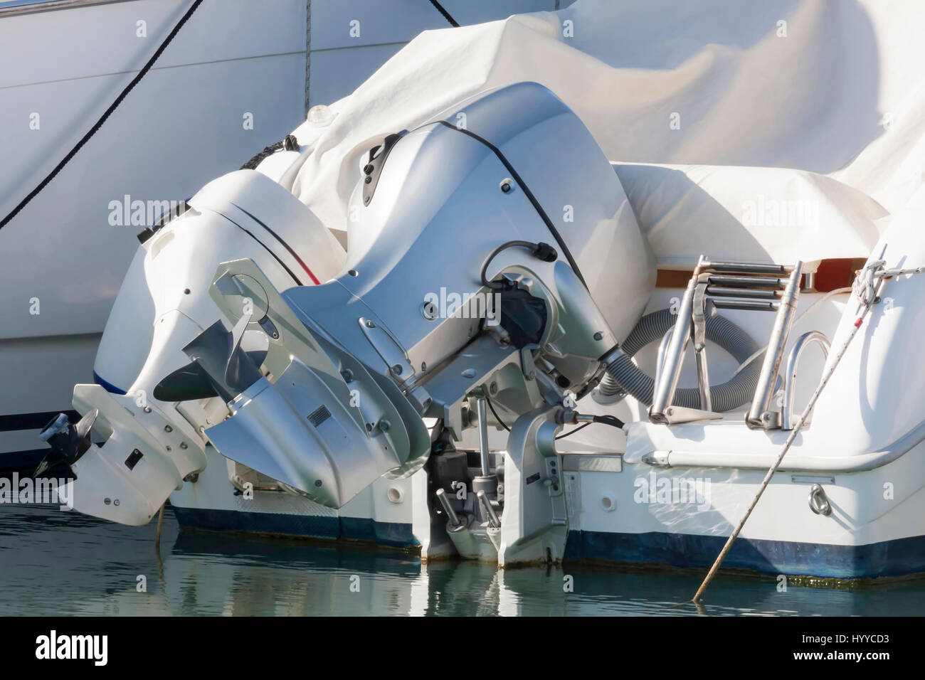 Couple of outboard engines - Stock Image
