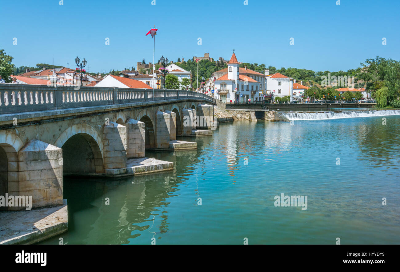 Tomar city center, Santarem district, Portugal - Stock Image