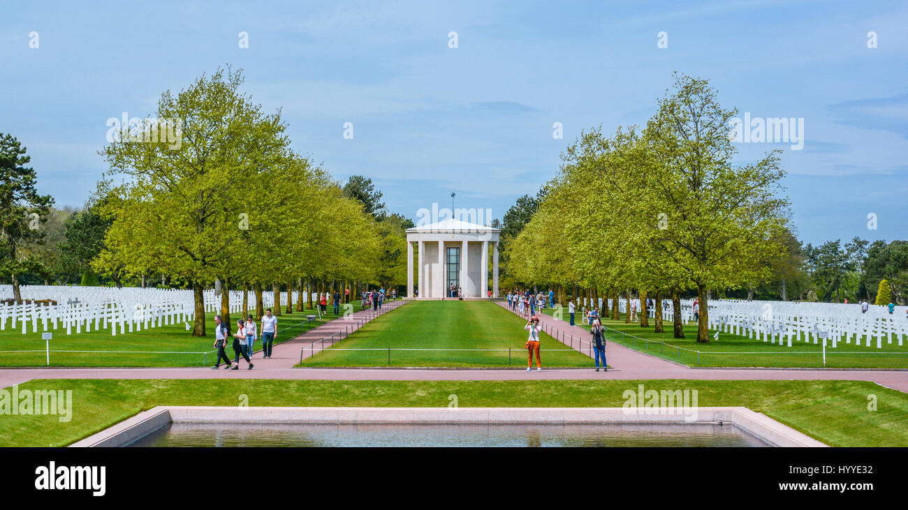 Normandy American Cemetery in Colleville-sur-Mer, France, May-08-2016 Stock Photo