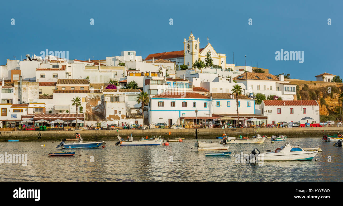 Late afternoon in Ferragudo, Algarve, Portugal, July-03-2016 Stock Photo