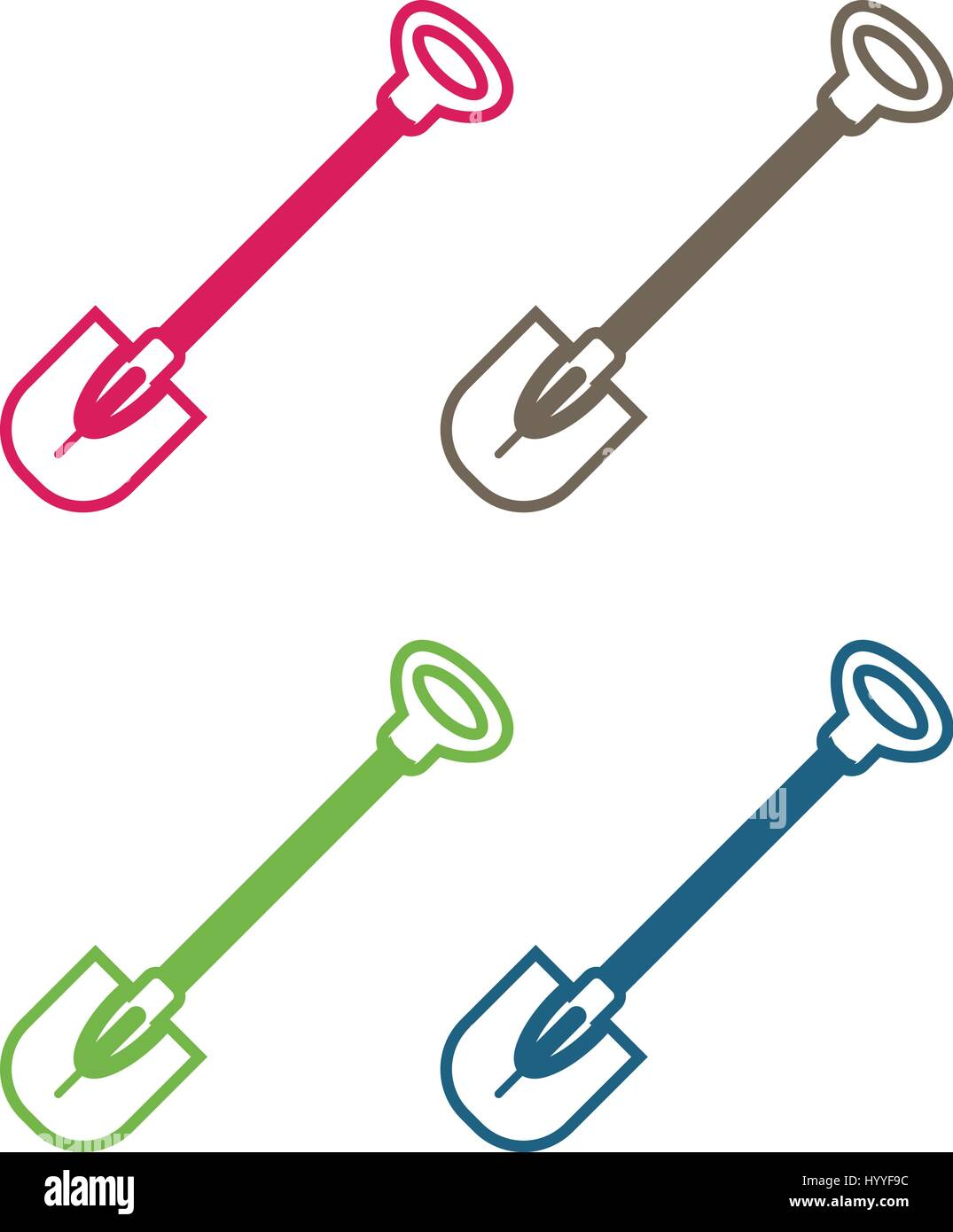 Work Tool - Shovel Icon as EPS 10 File - Stock Vector