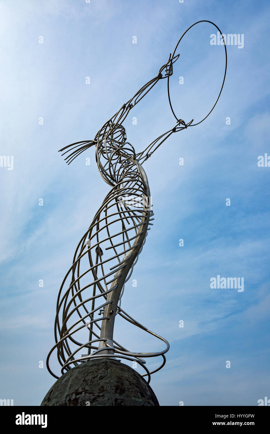 'Beacon of Hope', a sculpture by Andy Scott, Thanksgiving Square, Belfast, County Antrim, Northern Ireland, UK Stock Photo