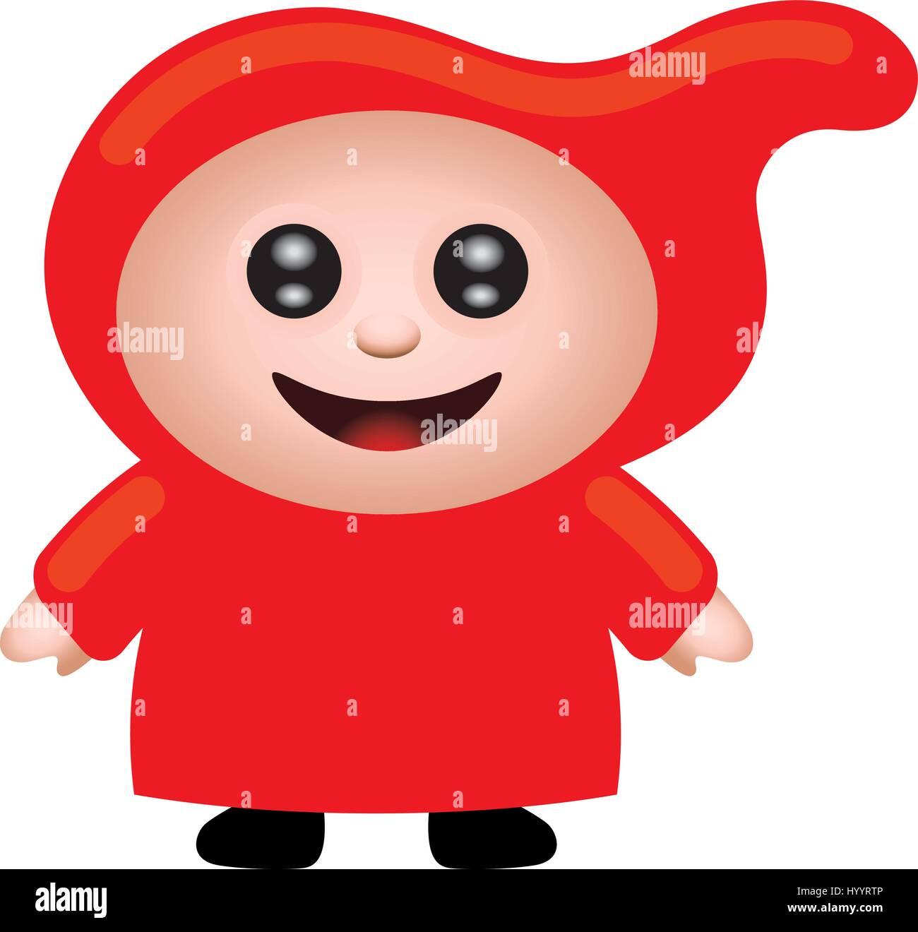 Red Riding Hood. Vector Illustration. - Stock Vector