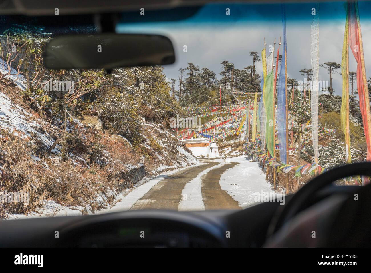 Trumshingla pass (Bhutan) Stock Photo