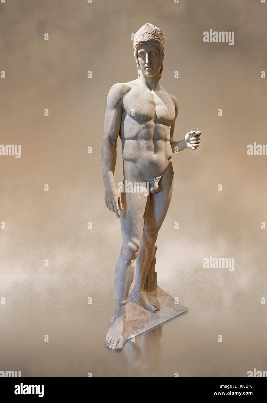 its or 2nd cent AD Roman statue known as The Ares Borghese.  Inv No. MR. 373 (Usual No Ma 370), Louvre Museum, Paris. - Stock Image