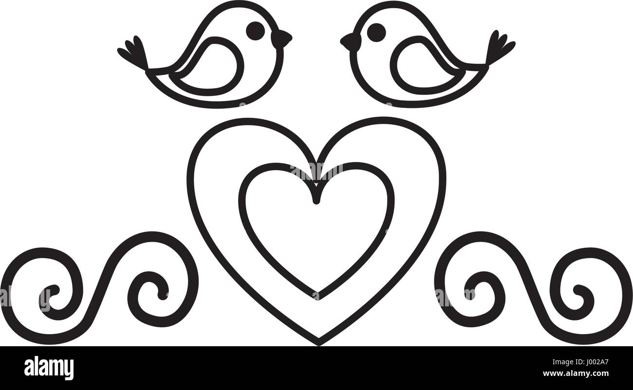 Love Birds Black And White Images