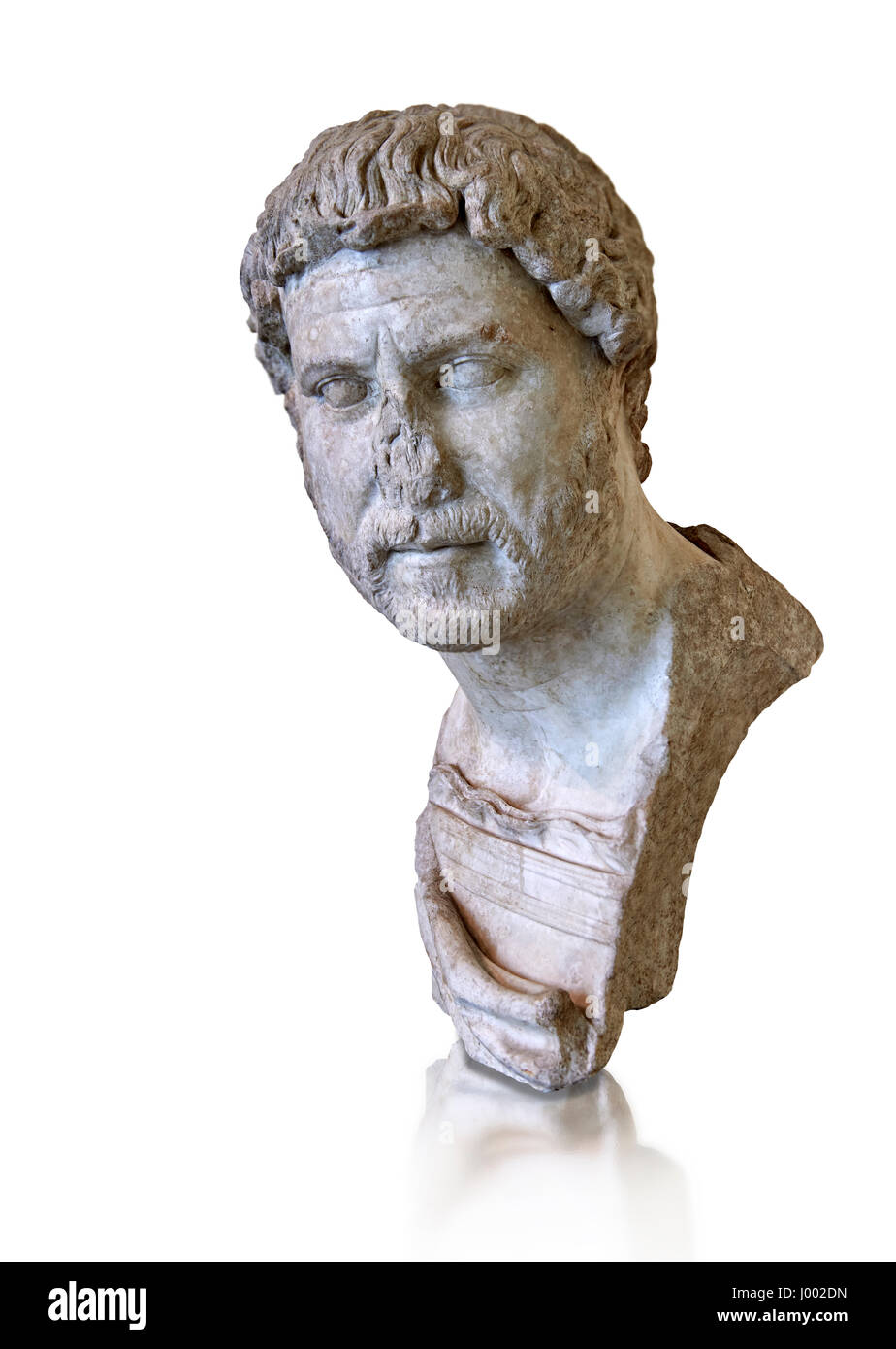 Roman marble portrait bust of Emperor Hadrian, 117-138 AD found in the Horti Tauriani, Rome.  MC inv 890, Capitoline - Stock Image