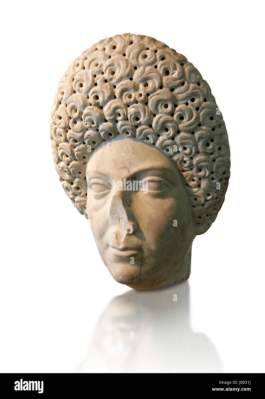 Roman portrait bust of a flavian women possibly Domita, circa 69-96 AD excavated from Terracina.  National Roman - Stock Image