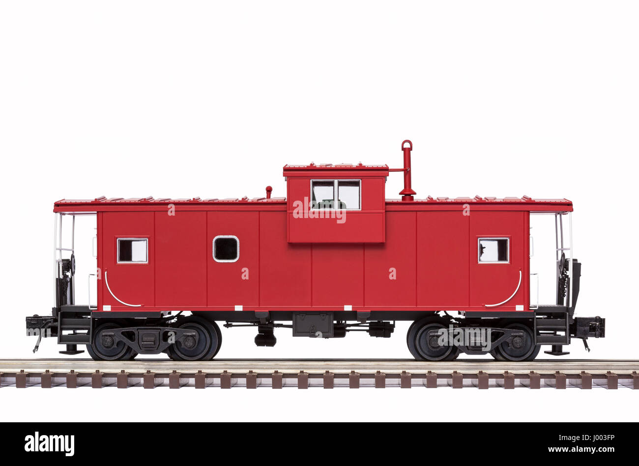 Red Railroad Caboose - Stock Image