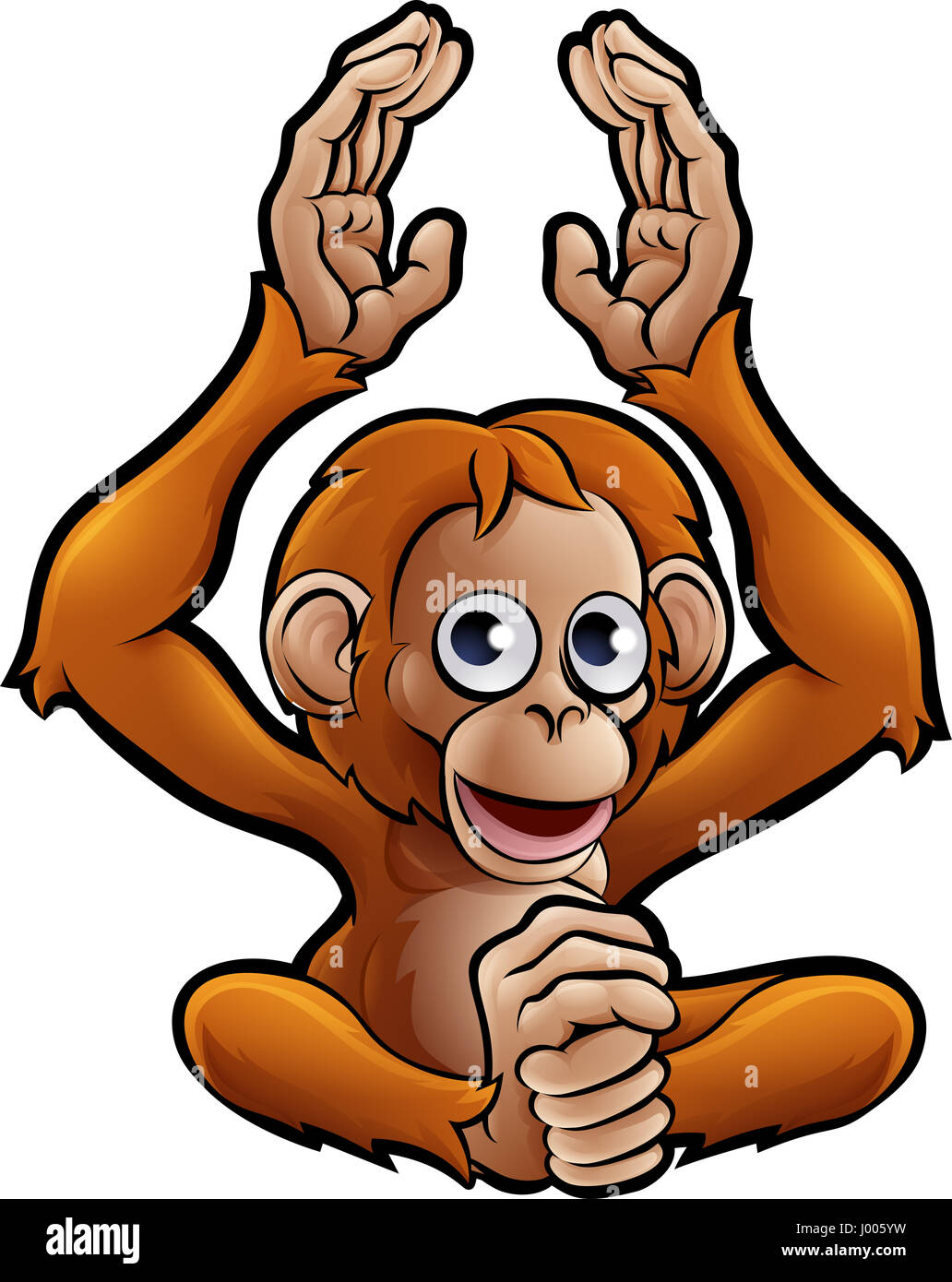 an orangutan safari animals cartoon character stock photo 137687645 rh alamy com orangutan clipart black and white cute orangutan clipart