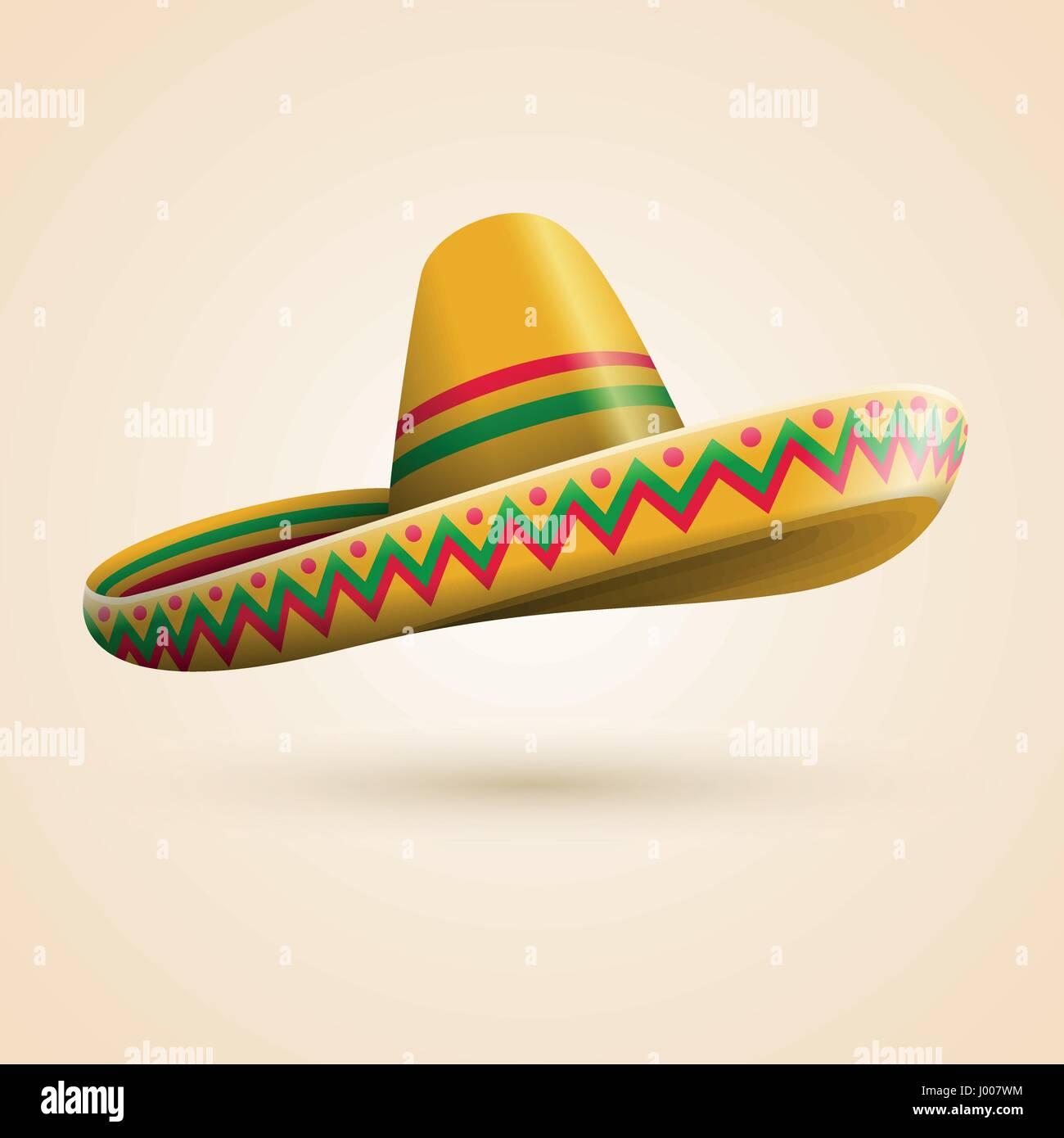Cinco de Mayo hat. Vector illustration. Stock Vector