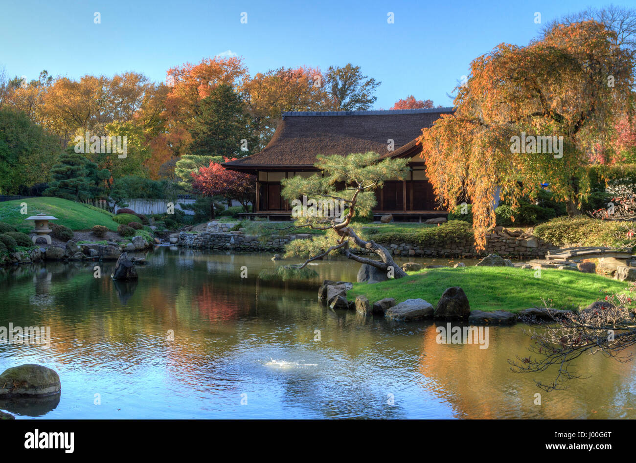 Delicieux Shofuso Japanese Garden In Autumn, Fairmount Park, Philadelphia,  Pennsylvania   Stock Image