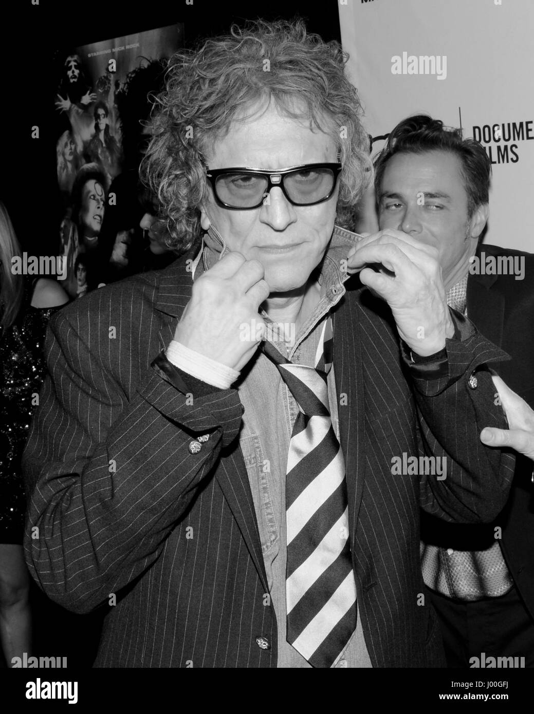 Mick Rock arrive for the Premiere Of 'SHOT! The Psycho-Spiritual Mantra of Rock' held at Pacific Theatres - Stock Image