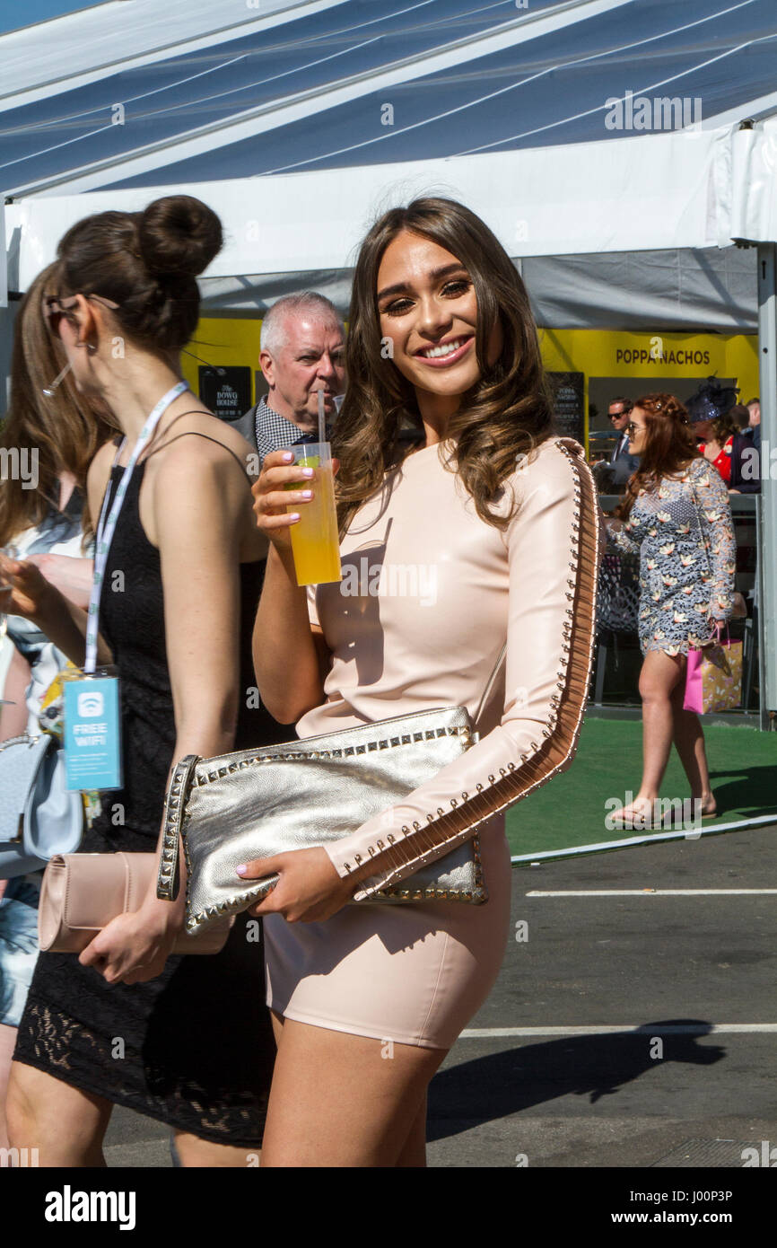 Randox Health Grand National, Liverpool, Merseyside. 8th April 2017.  The fashions pour in at the Randox Health Stock Photo
