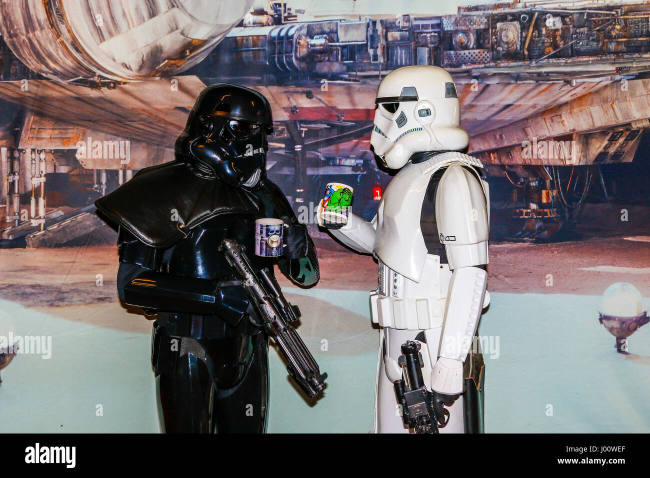 Glasgow, UK. 8th April, 2017. Glasgow held its first Sci-fi, Cosplay and Comic Convention in the famous Barrowland - Stock Image