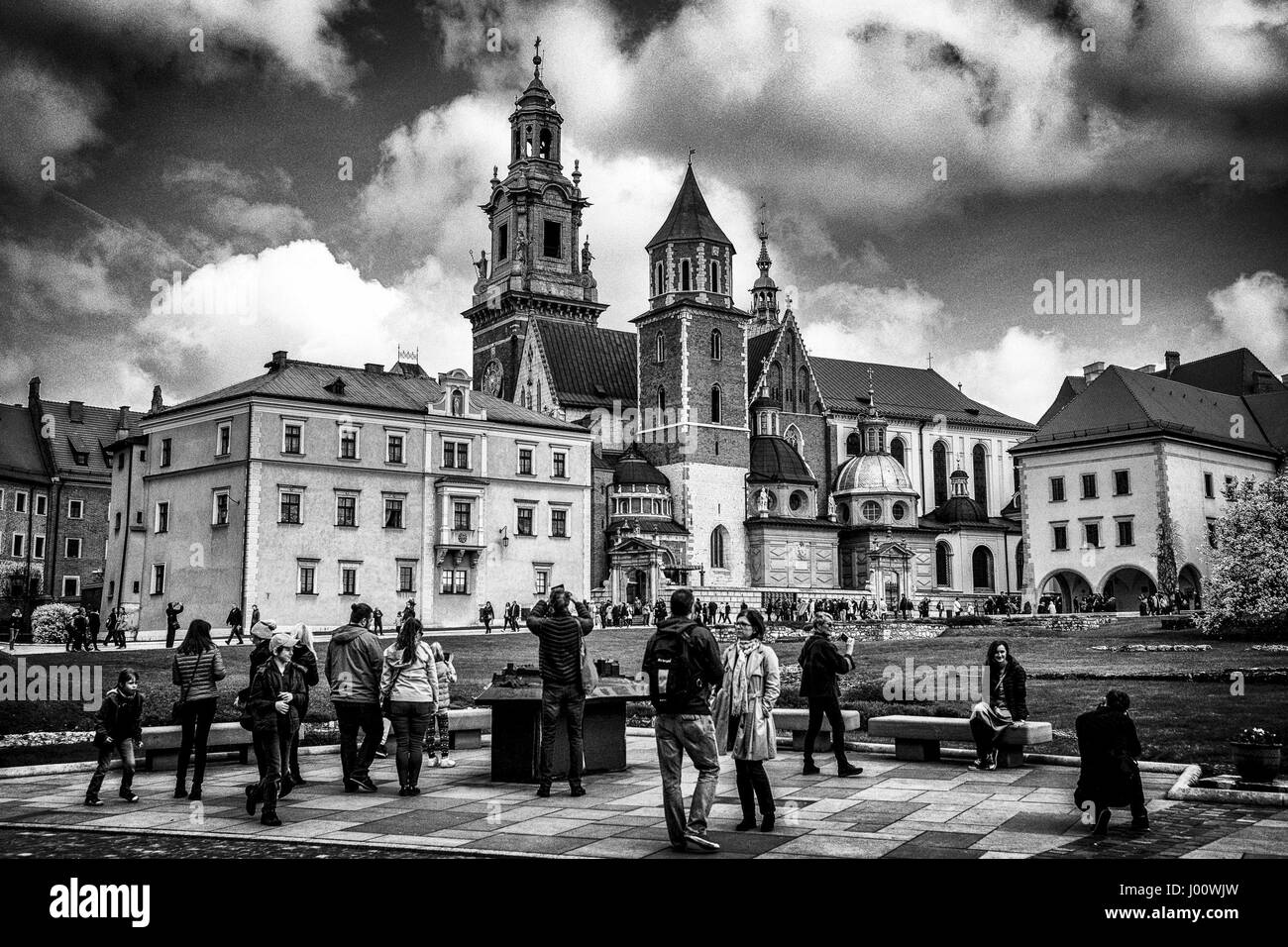 Krakow, Poland. 08th Apr, 2017. The Wawel Cathedral in Krakow, Poland on 08.04.2017 In the cathedral there is Thumb, - Stock Image