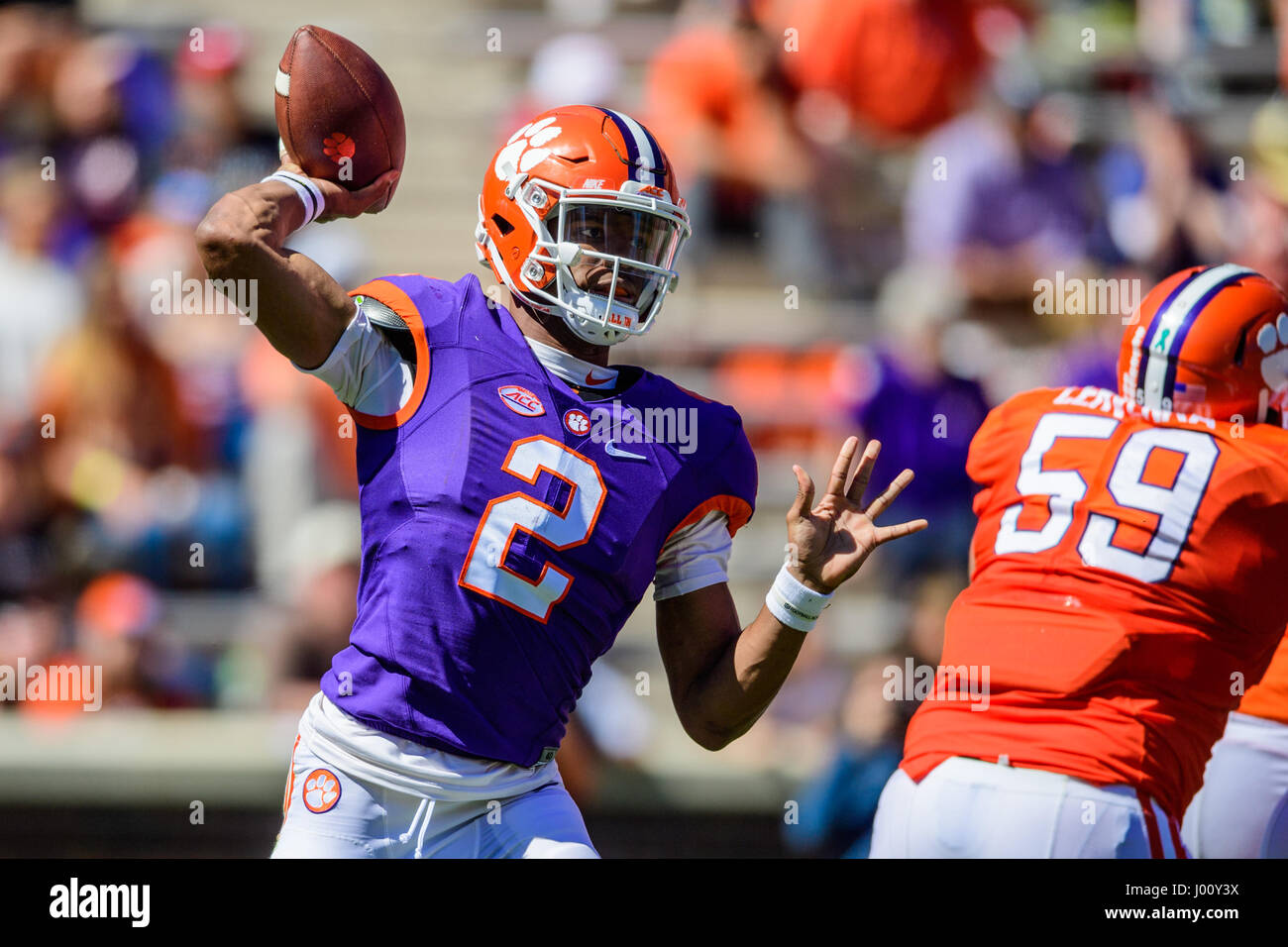 Clemson QB Kelly Bryant (2) during the Clemson Football Spring Game (Orange  and 3e66d7747a