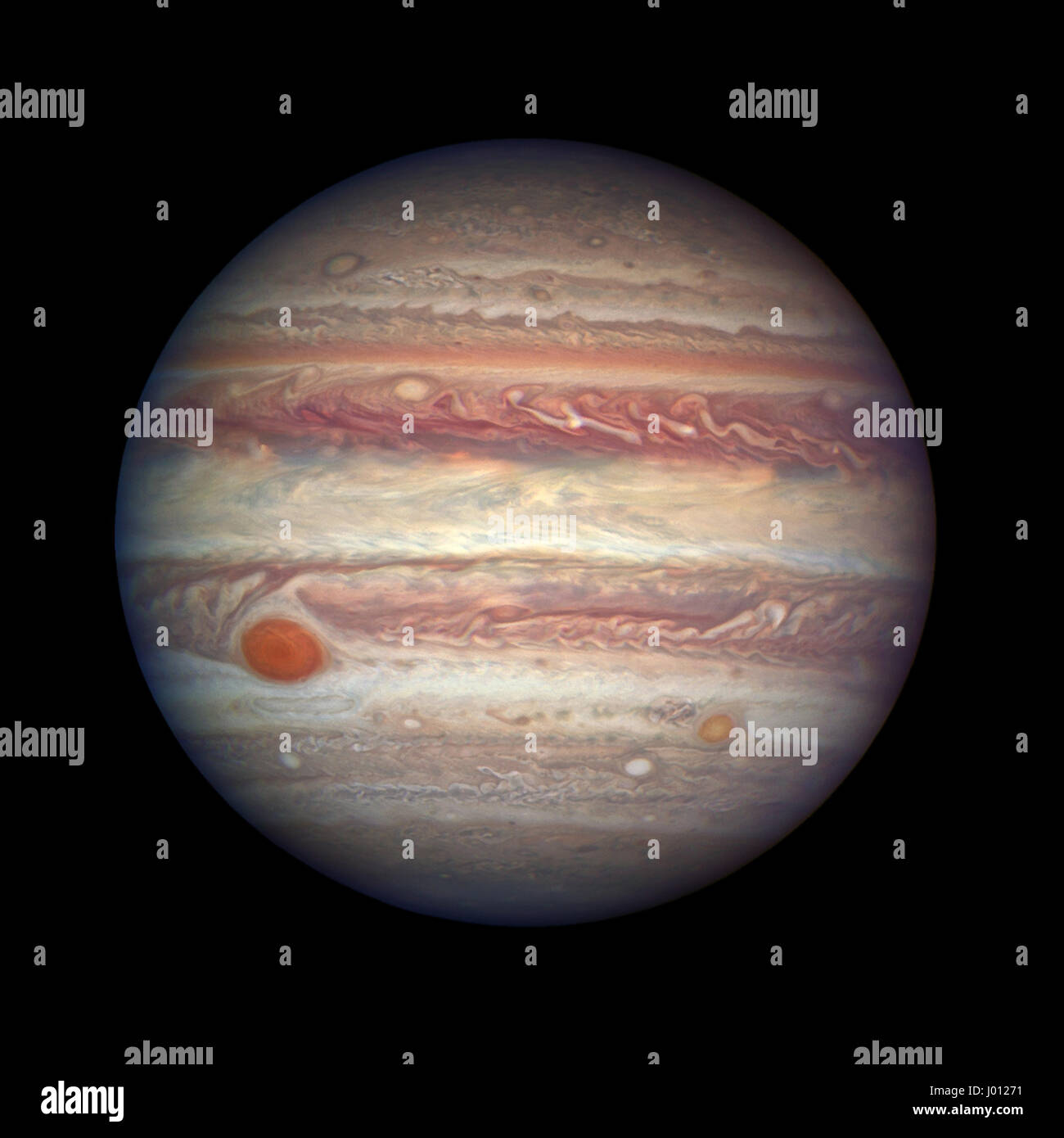 The Hubble Space Telescope captures the largest planet in the solar system after Jupiter made the nearest approach - Stock Image