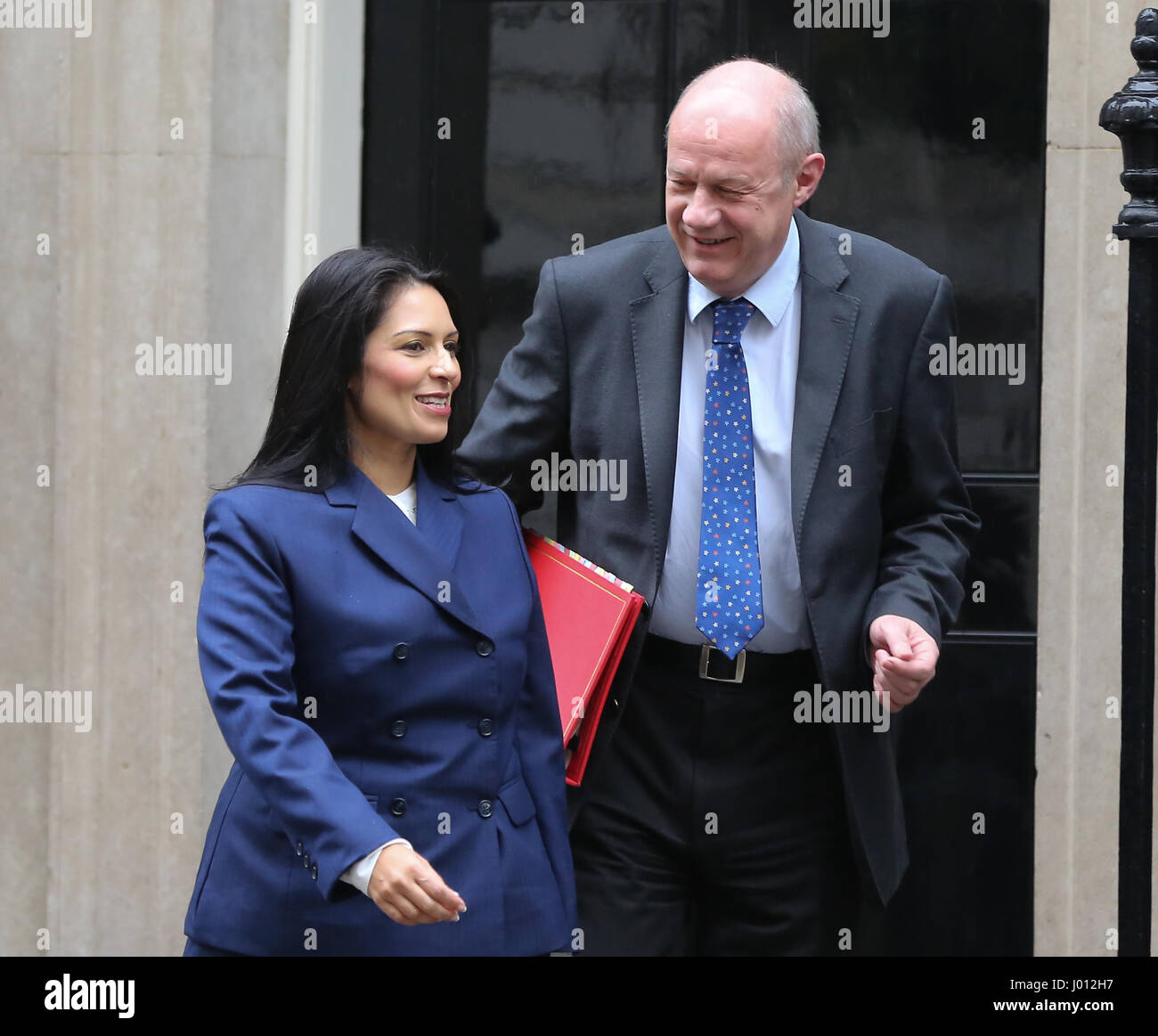 Cabinet ministers leave No 10 Downing Street following a Budget Cabinet meeting.  Featuring: Damian Green Secretary - Stock Image