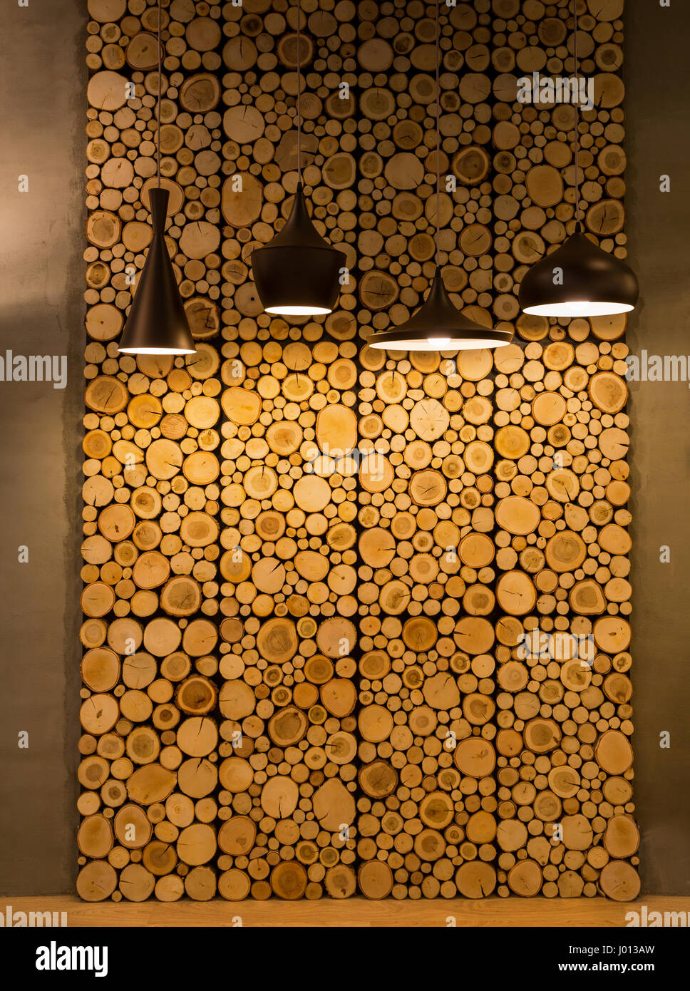 Wood Slice Decoration Wall Panels Wooden Cut Rings