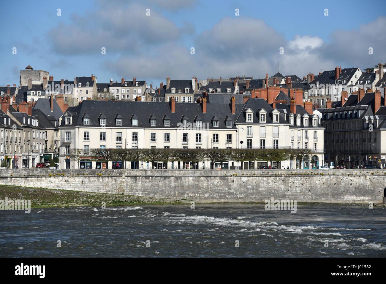 Blois, right bank of Loire river, Loire valley, Loir-et-Cher, Centre-Val de Loire, France, Europe, UNESCO World - Stock Image