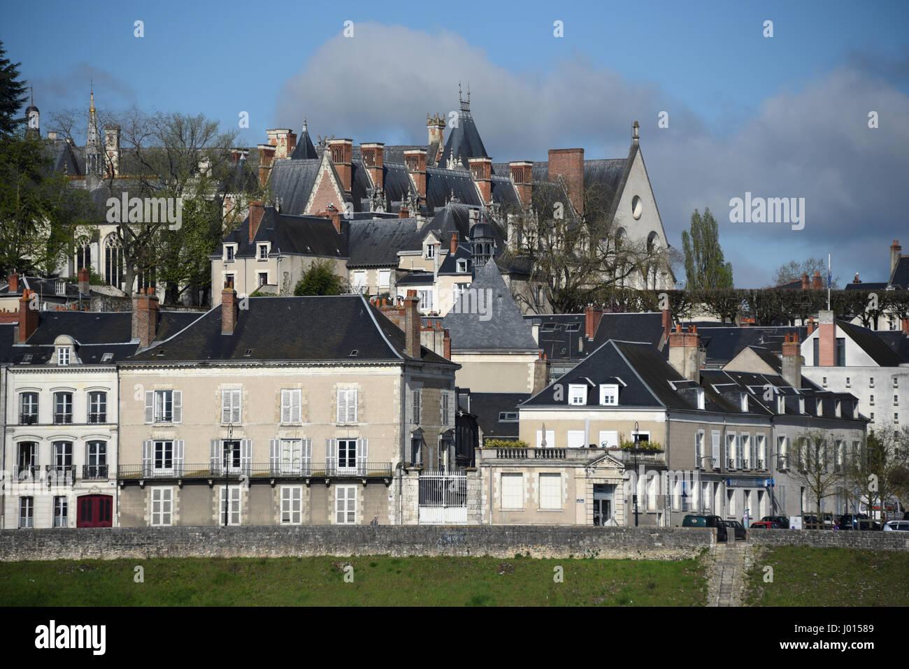 Blois castle, right bank of Loire river, Loire valley, Loir-et-Cher, Centre-Val de Loire, France, Europe, UNESCO - Stock Image