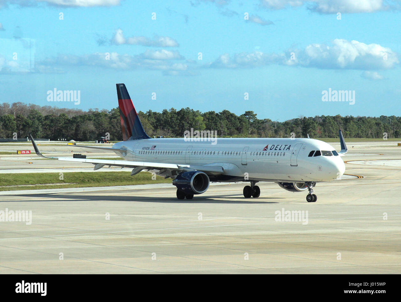 Delta Air Lines Airbus A321-200 - Stock Image