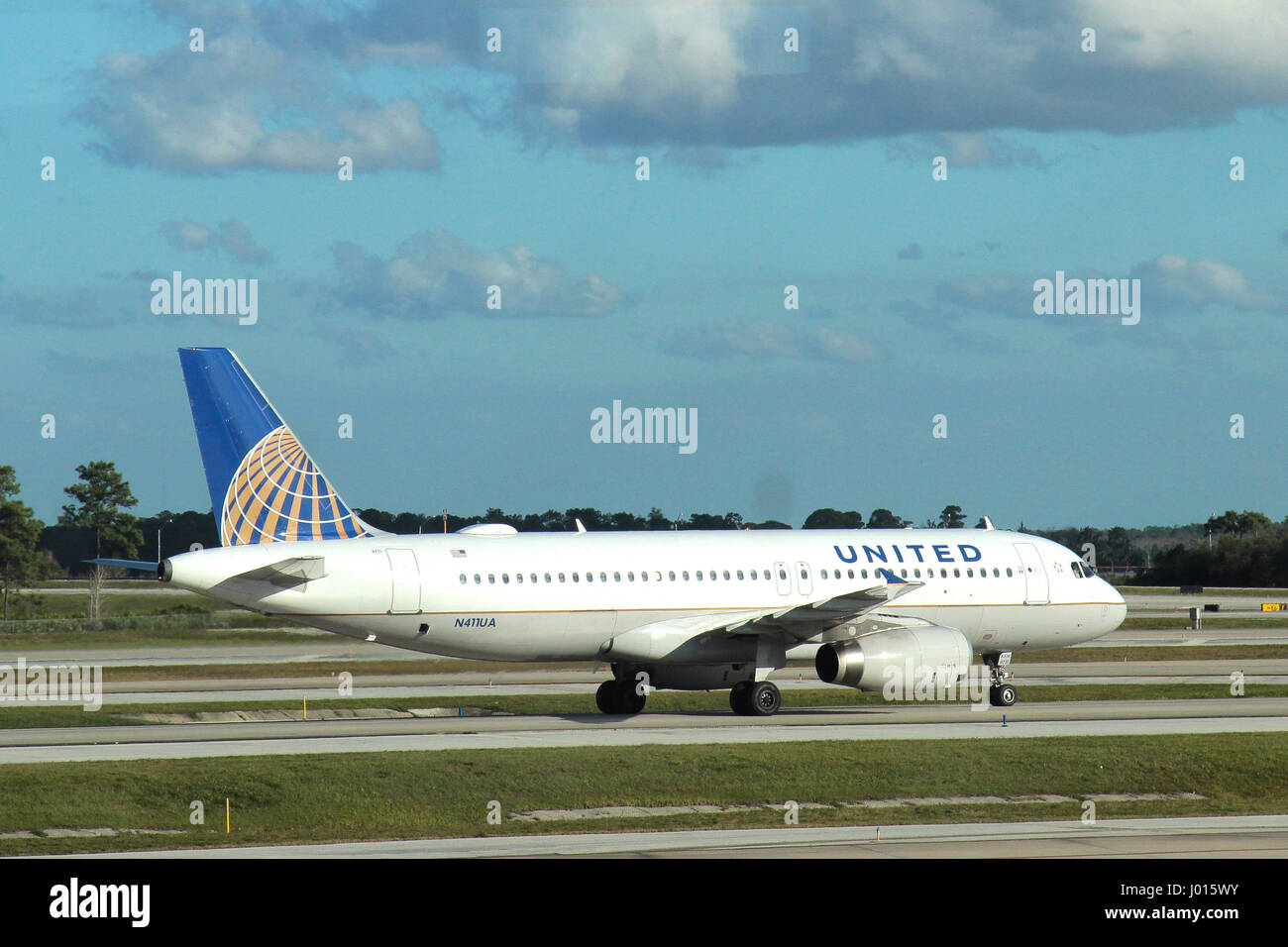 United Airlines Airbus A320-200 - Stock Image