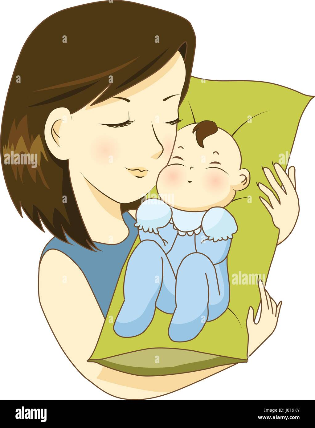 Mother holding her little baby with love - Stock Vector