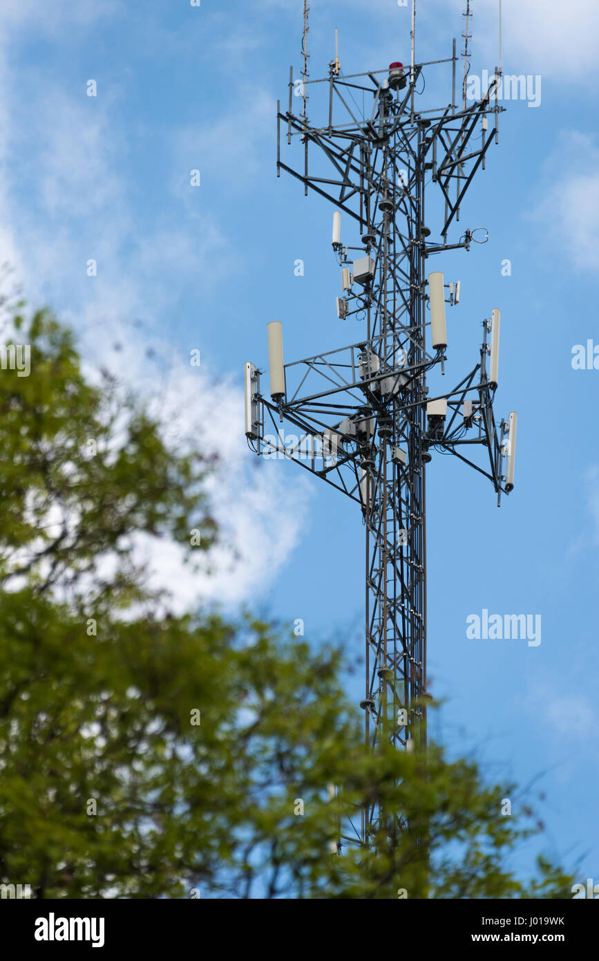 Cell phone tower. - Stock Image