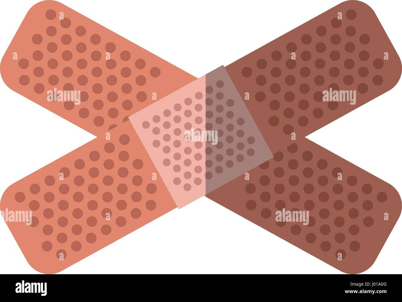 adhesive bandages icon - Stock Image