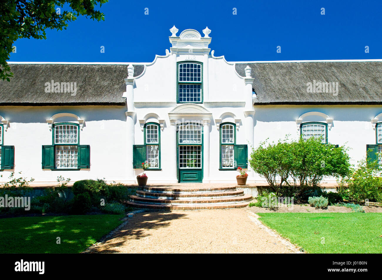 Boschendal is one of the oldest wine estates in South Africa and is located between Franschhoek and Stellenbosch - Stock Image